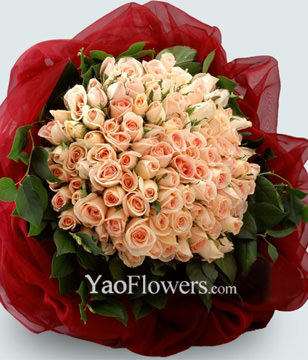 99 Stems Pink Rose Bouquet