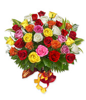 3 Dozen fresh assorted mixed color Roses
