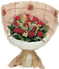 12 Red Rose, White Veronica, Lilac, Salal