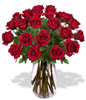 24 Red Roses With a Vase