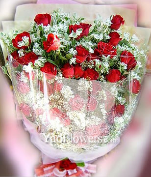 56 Red roses with Top class