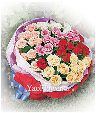 33 Roses with five color
