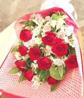 11 Red roses with Top class