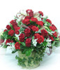 33 roses with Top class,33 red carnations