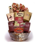 Gourmet chocolates, exotic coffees and teas, premium cheeses, nuts, seafood, crackers