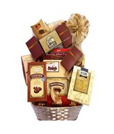 Chocolate basket with assorted gourmet chocolate, truffles and chocolate treats