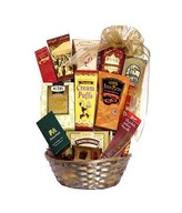 Hamper with assorted gourmet chocolates, cookies, fudge, truffles and more