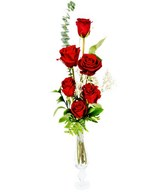 Bouquet of 6 Red Roses