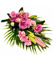 Assorted Purple & Pink Flowers With Greens