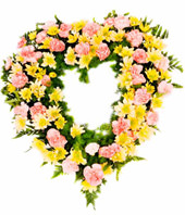 Wreath With Flowers In Lovely Hues