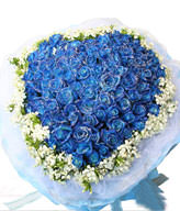 99 Blue Roses,Heart-Shaped