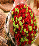 99 Red Roses,Green Leaves
