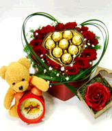 15 Roses,Cholocates,Bear,Gift box included