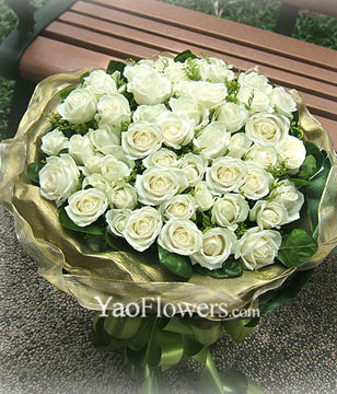 50 Top White roses
