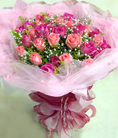 33 Peach and pink roses