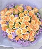 50 Champagne Roses