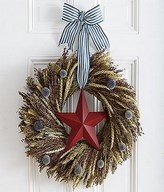 Natural Wheat & Grain Wreath - Preserved