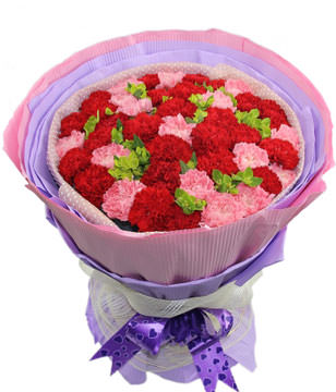 16 Pink Carnations,26 Red Carnations