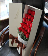 19 red roses gift box