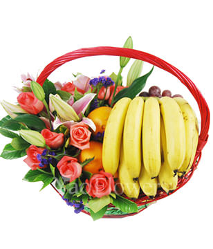 Happy Garden FFB130502,Send  bananas, oranges , grapes and other seasonal fruits