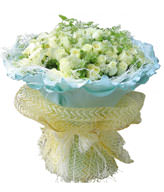 99white Roses with green foliages