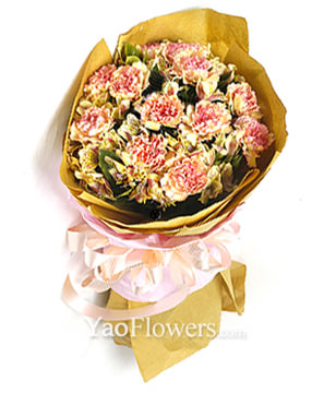12 pink( or yellow) carnations