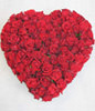 99 red roses,heart-shaped