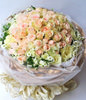 66 champagne roses,Pearl decoration