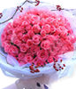 66 pink roses with top level
