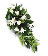 Spray of funeral flowers
