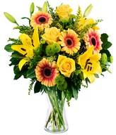 Roses, lilies and gerberas