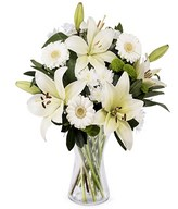 Pure Emotion: white lilies & gerberas