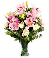 Spoil Them: white roses and pink lilies