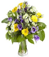 Lisianthus and gerberas
