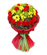 A Vibrant Collection Of Chrysanthemums, Carnations, & Daisies