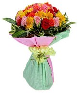 Mix of Gerberas, Carnations and Roses