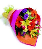 Colourful mix flowers bouquet