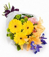 Bouquet of Gerberas, Lilies and Iris