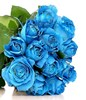 Hand Bouquet of 12 Blue Roses