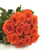 Bouquet of 12 Orange Roses