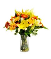 Lilies with Mixed Gerberas Daisies