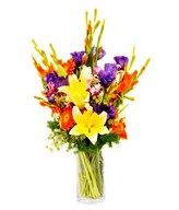 Assorted Seasonal Flowers in a Vase