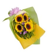 5 Stalks Sunflower Hand Bouquet