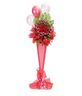 Standing Flower Arrangement of Red Gerberas