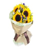 Bouquet of 9 Sunflowers