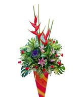 Brassica, Maria, Stargazer Lily With Red Roses
