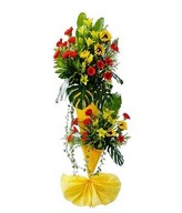 Yellow Tiger Lily, Red Gerbera, Sunflower