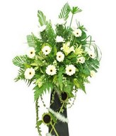 White Chrysanthemum, Lilies, Sunflowers & White Gerbera