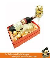 Red Wine with Ferrero Rocher & Beryl's Chocolate in a Box