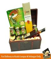 6 Bottles of Fish Essence with Ginseng & Cordyceps and Vinegar in a Treasure Chest